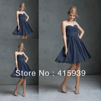 2014 new arrival gray color sweetheart chiffon bridesmaid dresses brides maid dresses BN050