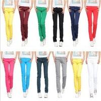 2013 female elastic skinny pants color candy colored pencil pants casual pants trousers autumn pants