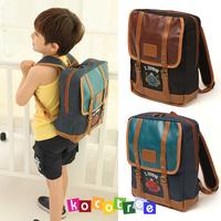 Robot High quality PU leather bags for children backpacks school bag boys fashion brand mochilas 12198