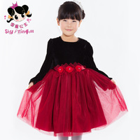 Princess children's clothing female child autumn 2013 long-sleeve child dress princess dress puff skirt