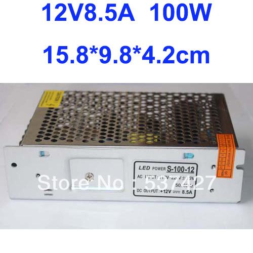 Versandkostenfrei, 100w 12v 8.5a Fahrer für led-streifen AC100V-240V Eingang, ce& RoHS-zertifiziert 2 Jahre Garantie