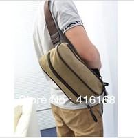 New men's canvas bag diagonal chest pockets