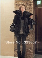 2013 Winter Polular Korea Women's Cotton-padded Jacket Big Fur Collar thick Outwear Warm Coat for women free shipping