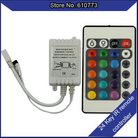 24key RGB Controller LED Strip IR Remote Controller Available for 5050/3528 Free Shipping