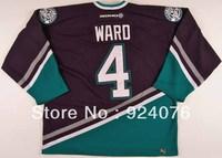 2002-03 Lance Ward Ice Hockey Anaheim Mighty Ducks Game #4 KOHO Jersey - Customized Any Number & Name Sewn On (XXL-6XL)