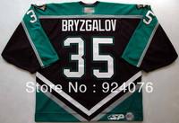 2000's Iilya Bryzgalov Cincinnati Ice Hockey Anaheim Mighty Ducks #35 KOHO Jersey - Customized Any Number&Name Sewn On (XXL-6XL)