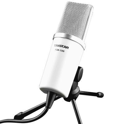 takstar nuevo micrófono de condensador para el ordenador portátil pc portátil pc msn y skype cantando multimedia con conexión de cable con encuestas deindicadores múltiples de la placa base