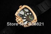 Brand New 2013 Luxury Mens Automatic Watch + Box Mechanical brand Digital movement watches For Mens Luxury wrist watch