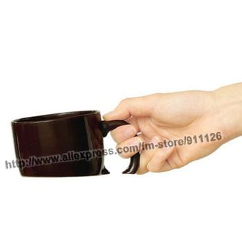Free shipping 2pcs/lot 2013 Unique Design Funny Sinking cup Creative Treasure Mug romantic lovers Coffee Mug Cute Milk Cup