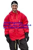 LOWEST PRICE!Men's padded coat WHOLESALE GOOSE DOWN PARKA WARM jacket WINTER OVERCOAT,Sweden flag parka.Sweden brand parka.FJAL