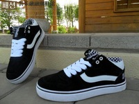 New 2013 women's skateboard shoes fashion leather suede causal sport flats canvas sneakers size 36-44 free shipping