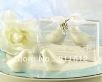 2013 New arrival white elegant love bird salt pepper shaker wedding bridal shower favor