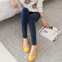 2013 trousers skinny pants female denim elastic dark color jeans tight
