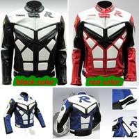 PU leather revestimento da motocicleta motorcycle racing jackets winderproof  winter Racing jacket with body armor protector