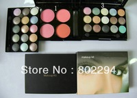 New Makeup Kit 15 Color Eyeshadow 4 Color Blush 48G(1pcs/lot)