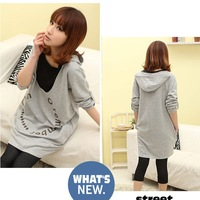 Autumn and winter long-sleeve nursing loading with a hood nursing top nurse dress maternity sweatshirt puerperal