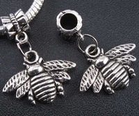 Wholesale Fashion  Vintage Silver Cute Honey Bee Charms Pendant  DIY Jewelry Findings Free Shipping 100pcs 28*22mm Z1161