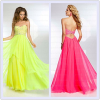 New Beaded Chiffon with Fly Away Over Skirt special Occasion Dresses Strapless Prom Dress