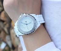 Bling! fashion Sinobi Brand Luxury girl's watches analog Dial with full Diamond Rhinestone face elegant Style Ladies Women Watch