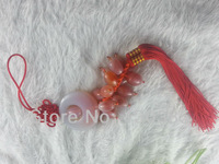 Natural Agate and Natural artificial carving Car Hanging Car Accessories  Christmas Gift  Harmony Means Safety Ornaments