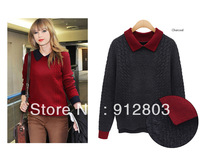 EU Style  Slim O-neck long-sleeve Autumn Winter Women's  Pullovers Sweaters women New 2014 fall Clothing