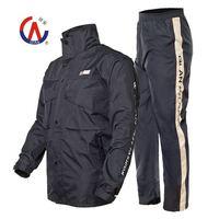 Split adult raincoat rain pants set double layer thickening outdoor motorcycle raincoat