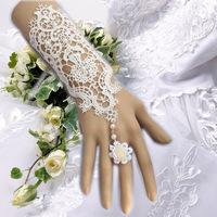 Hot Sale Wedding white Lace Jewelry vintage pearl lace bracelet  Vintage bridal handcuff  B121