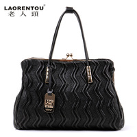 LAORENTOU fashion cowhide vintage handbag new 2013 women leather handbags famous brands genuine leather bags ladies totes