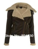 new 2013 autumn winter Nubuck leather slim women's clothing fur leather & suede coat jacket outerwear female