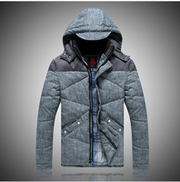 Top Quality New Fashion Winter Men's Casual Slim Cotton Eiderdown Jacket Thickening Coat Outwear For Men Plus Size Free Shipping