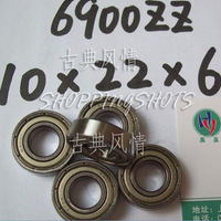 100pcs thin 6900-2Z ZZ bearings Ball Bearing 6900ZZ 10X22X6 10*22*6 6900Z 6900ZZ