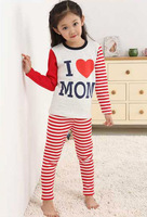 Boys and girls plus thermal underwear thick velvet autumn winter children pajamas