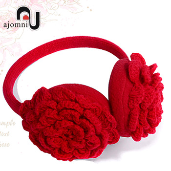 Rose yarn earmuffs female autumn and winter ear package ear earmuffs fashion unique ear