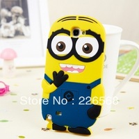 New Cute Cartoon Despicable Me 3D Minions Soft Silicone Case Cover for Samsung Galaxy Note II 2 N7100 case