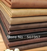 Wholesale Retro cowboy style pu leather leatherette fabric / thickness 0.8mm width 138CM /A665