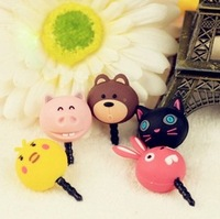 Cartoon mobile phone dust plug millet  for htc    for apple   iphone5  for SAMSUNG   general earphones dust plug
