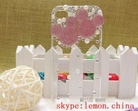 50X 3D Bling Handmade Minnie Mickey Mouse Case For iPhone 4 4S Cartoon Mickey head Clear Crystal Case Lovely Diamond Rhinestone
