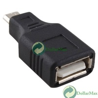 New arrive: New USB 2.0 A Female To Micro B 5 Pin Male Plug Adapter Converter for MP3 Phones wholesale