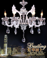 Free Shipping Wholesale Modern Glass Crystal Chandeliers with Zinc Alloy Decorative Lamp / Light / Lighting (Model:CC-N131-6)