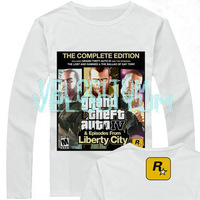 Free shipping Games t-shirt gta 5 printed parttern full cotton long-sleeve T-shirt