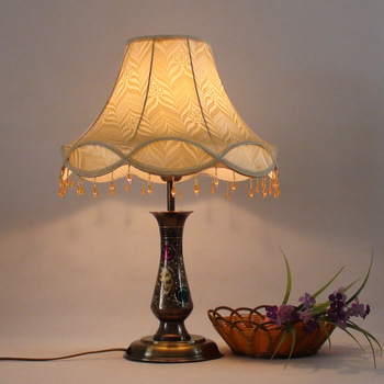Fashion antique copper carved table lamp chinese style vintage lamp ofhead dimming lighting