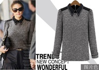 Free Shipping 2013 Autumn and Winter women's major suit fashion new all-match knit pullovers sweater