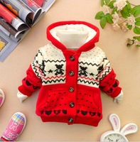 Child cotton-padded jacket female winter child cotton-padded jacket male child berber fleece thickening wadded jacket children