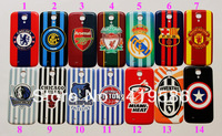 14 Designs Football Club Basketball Pattern  Hard Plastic Housing Battery Door Back Rear Replacement Cover For Galaxy S4 I9500