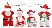 Christmas style Cotta baby suit with a Hat + Short pant Fashion style Suitable for Lovely girls and boys Merry Christmas