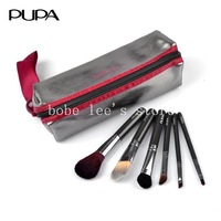 PUPA New Brand 6 High quality Professional Cosmetic Makeup Brushes Set with Case Free Shipping #P6