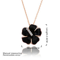 Wholesale Charms Gold Jewelry Women Necklaces & Pendants 18K Gold Plated Crystal Pendant Necklace Factory prices E649