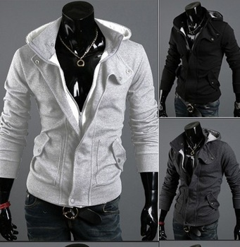 2013 new zipper hooded cardigan casual Slim jacket hoodies figures
