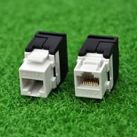 (24pcs a batch) 10G Network Cat6a (CAT.6A Class Ea) RJ45 Keystone Jack Network Connector -Connection Adapter