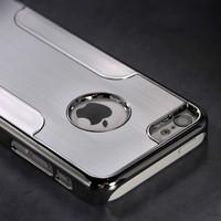 Silver For  iPhone 5C 5 C Luxury Brushed Aluminum Chrome Hard Case+Pen+Film